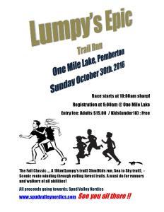 Lumpy's Epic Run 2016